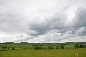 Grey skies near Alnham